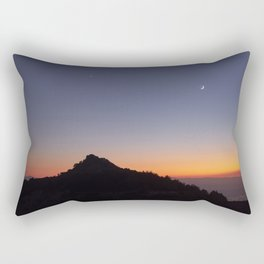 Venus and the Moon. Sierra Nevada at sunset Rectangular Pillow