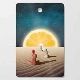Desert Moonlight Meditation Cutting Board