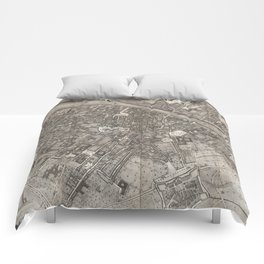 Vintage Map of Florence Italy (1847) Comforters