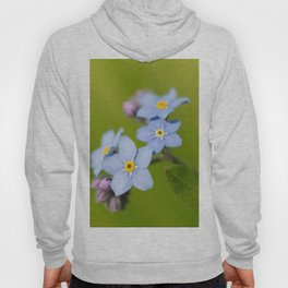 Forget-me-not Flowers On Natural Green Bokeh Background #decor #society6 #buyart Hoody