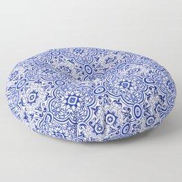 Chinese Porcelain Print Moroccan Tiles Oriental Moroccan Tiles Royal Blue White Tiles Floor Pillow