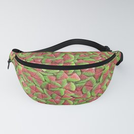 Sour Watermelon Gummy Candy Photo Pattern Fanny Pack