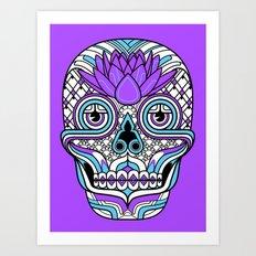 Lotus Skull Art Print