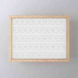 lines geo-ivory mural 12' x 8' Framed Mini Art Print