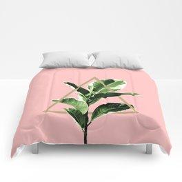 Ficus Elastica Geo Finesse #1 #tropical #foliage #decor #art #society6 Comforters