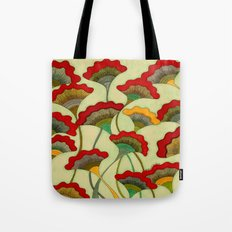 Poppies (warm) Tote Bag