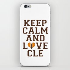 LOVE CLE BROWNS II iPhone & iPod Skin