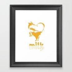 I Love Milk Framed Art Print
