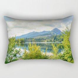 Strbske Pleso in High Tatras mountains Rectangular Pillow