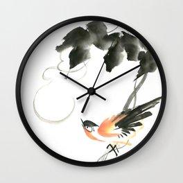 Bird 3- Chinese Shui-mo (水墨) Wall Clock