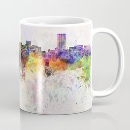 Birmingham AL skyline in watercolor background Coffee Mug