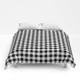 Classic Black and White Western Cowboy Buffalo Check Comforters