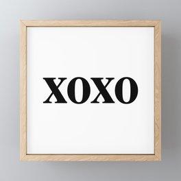 Black XOXO Framed Mini Art Print