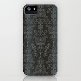 Sonia, outer space gray ornate iPhone Case