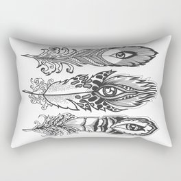 bizarre feathers with eyes Rectangular Pillow