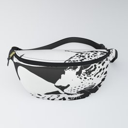 Black And White Wildcat #decor #society6 Fanny Pack