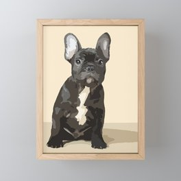 French bulldog puppy! Framed Mini Art Print