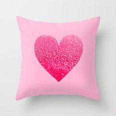 PINK PINK HEART Throw Pillow