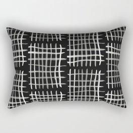 Hashtag, Black Rectangular Pillow