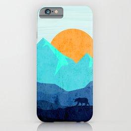 Wild mountain sunset landscape iPhone Case