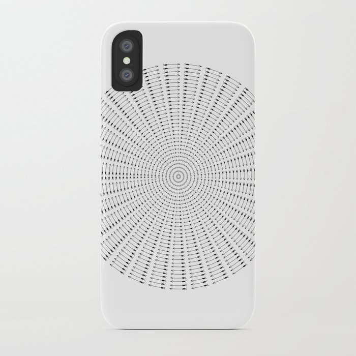 Arrows Sphere on White iPhone Case