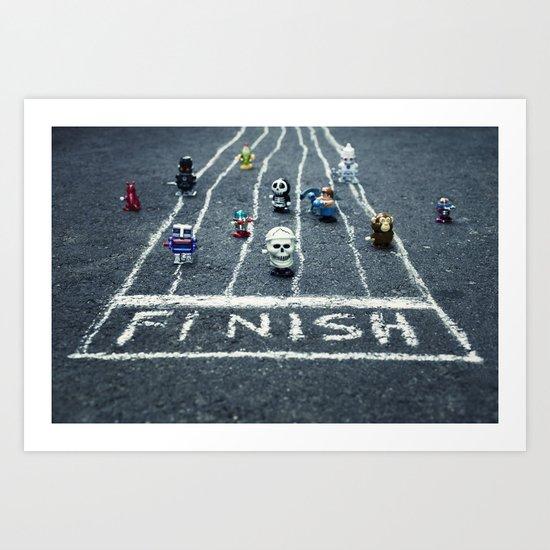 the wind up race Art Print