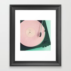 The Pink Record	 Framed Art Print