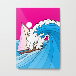 The big wave Metal Print