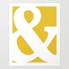 Ampersand Mustard Yellow Art Print