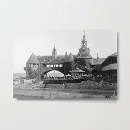 1890 Narragansett Towers & Casino, Narragansett, Rhode Island Metal Print