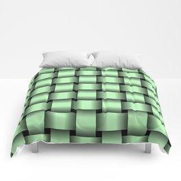 Large Light Green Weave Comforters
