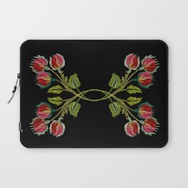 Embroidered Scandi Flowers Laptop Sleeve