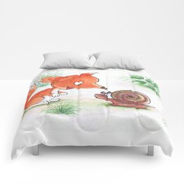 Foxy and a snail Comforters