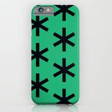 Vondel Black on Green Pattern iPhone 6s Slim Case