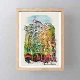 Casa Batllo Barcelona Framed Mini Art Print