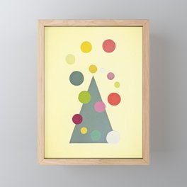 Christmas Lights Framed Mini Art Print