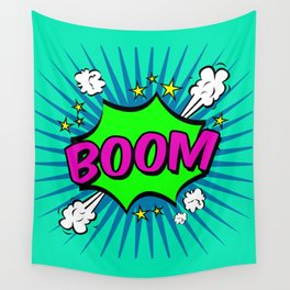Boom Blue Boom Wall Tapestry