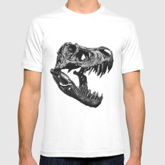 T Rex MEDIUM White Mens Fitted Tee