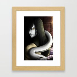 And here I am now, a slave to the dark Framed Art Print