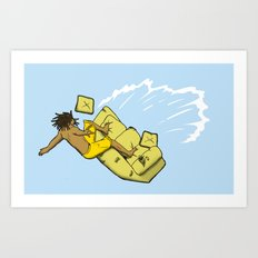 Couch Surfer Art Print