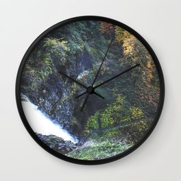 Waterfall Lookout Wall Clock