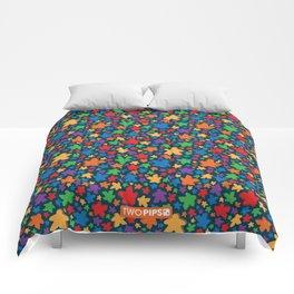 Funky Meeple Pattern Comforters