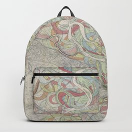 Beautiful Map of the Lower Mississippi River Backpack