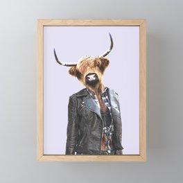 Cow Girl Framed Mini Art Print
