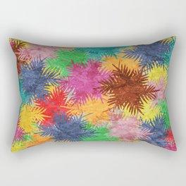 Tropical Fan Palm Paradise – Colorful #05 Rectangular Pillow