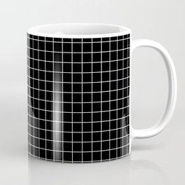 Windowpane Black Coffee Mug