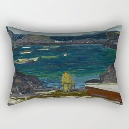 The Harbor, Monhegan Coast, Maine, 1913 Rectangular Pillow