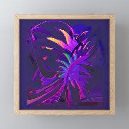 Tropical Sounds under Moon Light Framed Mini Art Print
