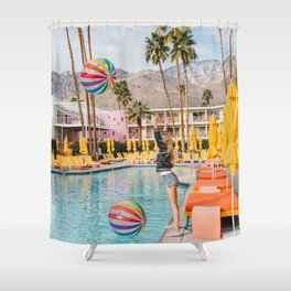 Palm Springs Pool Day IV Shower Curtain