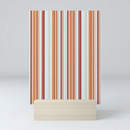 Combined Stripe Pattern - Clear Sailing Colorway Mini Art Print
